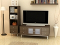 Wooden Espresso Stereo And Audio Cabinet TV Entertainment Unit
