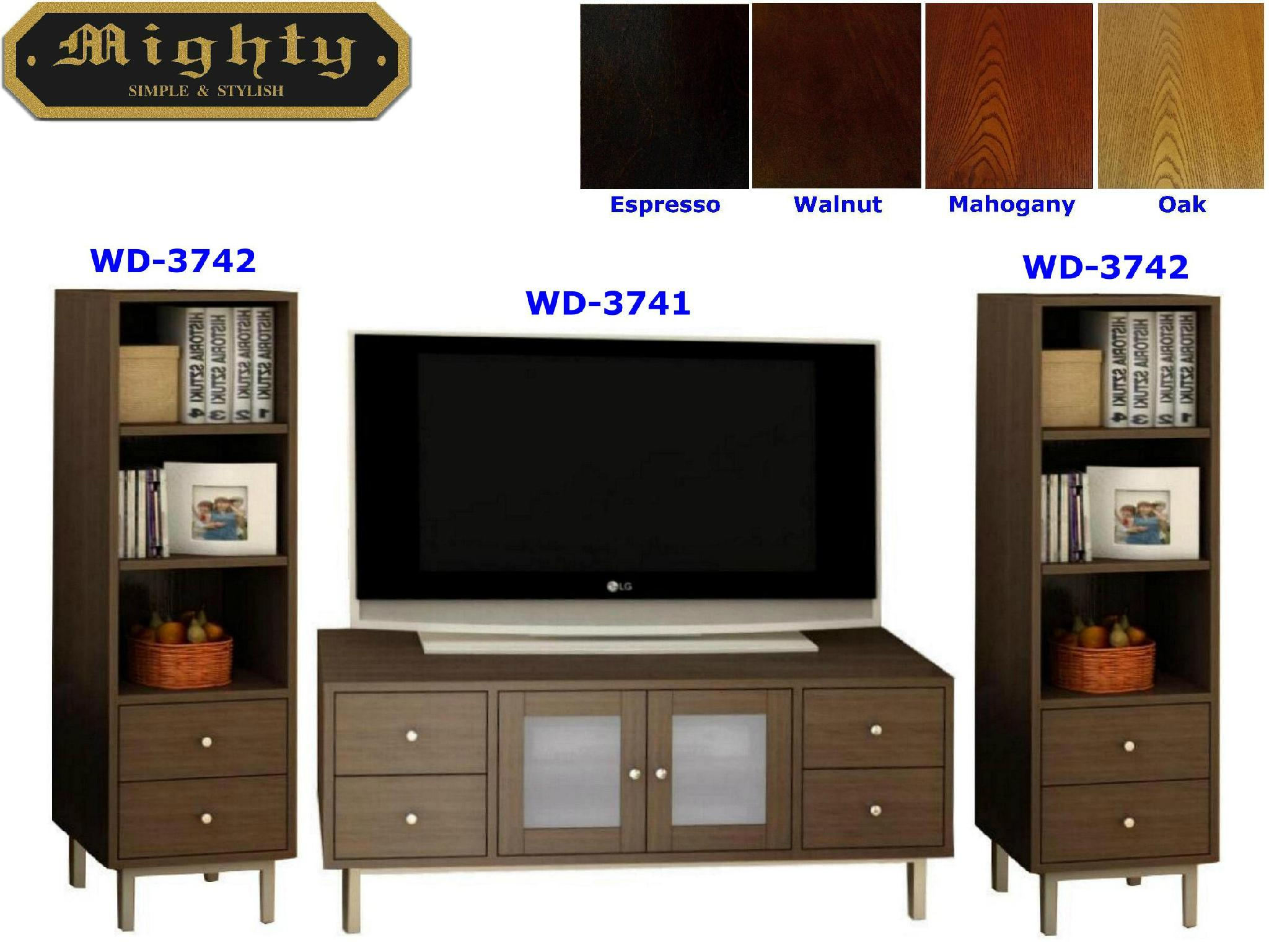 Wooden Espresso Stereo And Audio Cabinet TV Entertainment Unit 1 ...