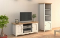 Wooden TV And Media furniture White Entertainment Center