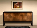 70 inch 3 Door Espresso Contemporary Designer Wooden Sideboard