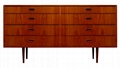 48 inch Modern Wood Mahogany Chest Of Drawers