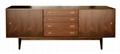 66 inch 4 Drawers Wooden Walnut Kitchen Retro Sideboard