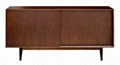 54 inch Walnut Mid Century Modern Kitchen Dresser