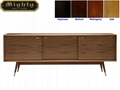 72 inch Walnut Wood Vintage Scandinavian Sideboard