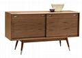 53 inch Walnut Mid Century Wood Vintage Dresser