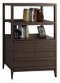 Wooden Walnut Open Wide Bookcase Cabinet
