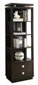Wooden 4 Shelf Media Tower Black Bookcase
