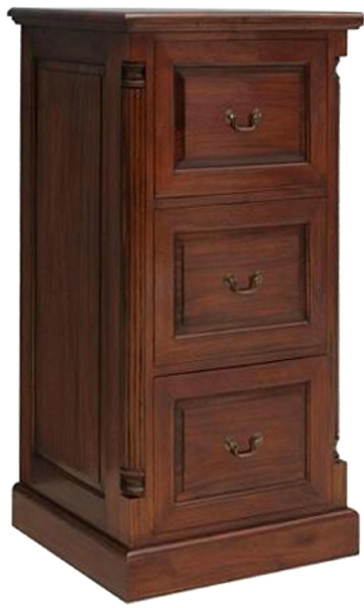Classic Antique Dark Cherry 3 Drawer File Cabinet - WD-3726 ...