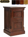 Classic Antique Dark Cherry 2 Drawer Filing Cabinet