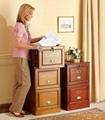 Wooden Oak Locking 3 Drawer Filing Cabinet