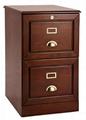 Wooden Oak Locking 2 Drawer File Cabinet