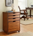Home Office Four Drawer Wooden Filing Cabinet