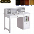 Home Reading Room Hutch Top White Office Desk Furniture