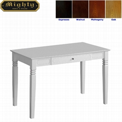 Home Office One Drawer White Writing Table Small Desk