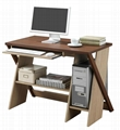 Two Tone Color Contemporary Computer Workstation PC Desk