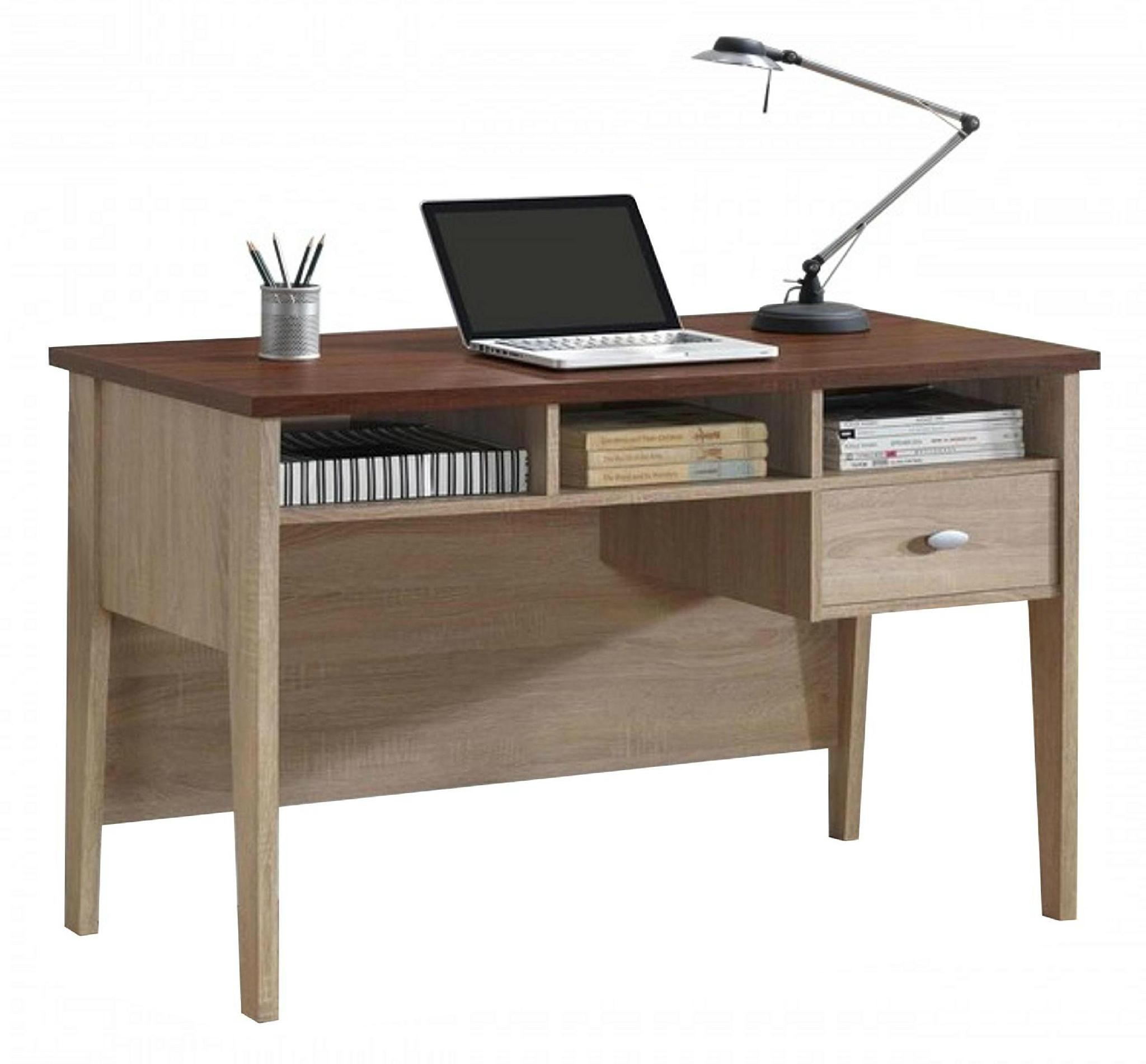 Two tone color contemporary home office writing desk wd - Home office furniture components ...