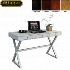Wooden 3 Drawers X Shaped Leg White Office Table Desk