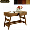 Wooden Walnut Modern Writing Oak Desk With Drawer