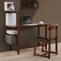 4 Tier Bookshelf Small Writing Desk With Shelves