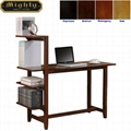 4 Tier Bookshelf Small Writing Desk With Shelves