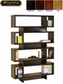 4 Tiered Hollow Core Contemporary Modern Wooden Bookshelves