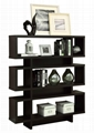 3 Tiered Hollow Core Contemporary Wooden Modern Bookshelf