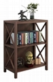 2 & 4 Tier X Shaped Side Panels Modern Book Storage Shelf
