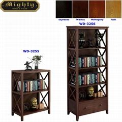 2 & 4 Tier X Shaped Side Panels Modern Book Storage Shelf