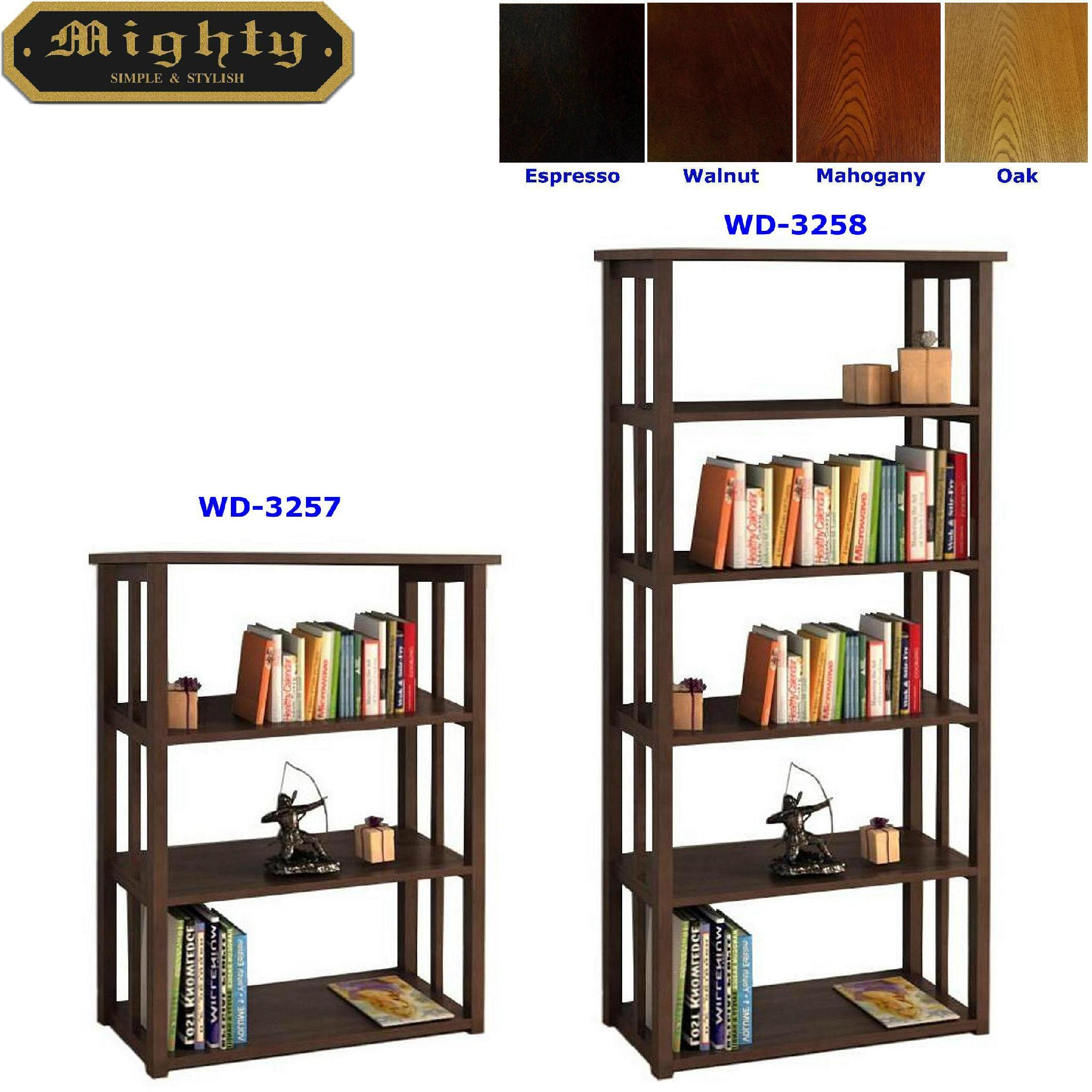 Mission Style 3 Tier Display Shelf & 5 Tier Display Shelf