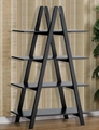 Wooden X Shaped 4 Tier Leaning Ladder Book Shelves