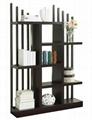 5 Tier Staggered Slat Wood Utility Decorative Book Shelf