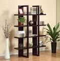 Wooden Espresso 4 Display Shelf Stand Tall Bookshelf