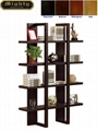 Wooden Espresso 4 Display Shelf Stand Tall Bookshelf