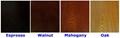 Classic Walnut Open Display 4 Tier Shelf Unit