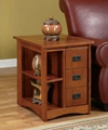Wooden 3 Drawers Oak Magazine Rack Living Room End Tables