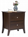 Bedroom Two Drawers Wood Bedside Table & Small Nightstand