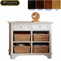 Wooden Cubby Console White Sofa Entryway Table With Storage
