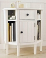 Wooden Book Storage Chest Narrow Hall Tall White Console Table