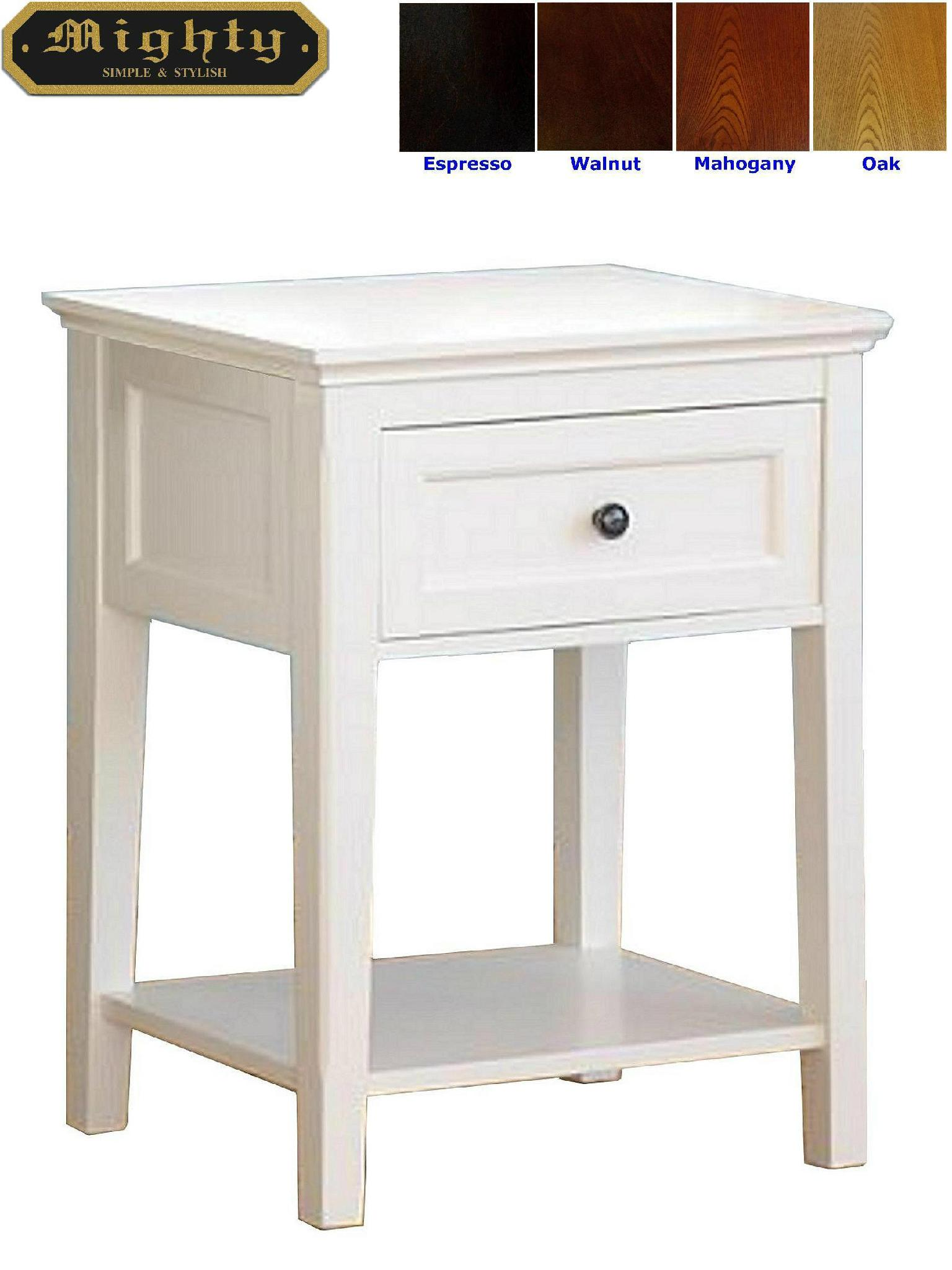 wooden modern small white side occasional table with drawer taiwan. Black Bedroom Furniture Sets. Home Design Ideas