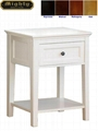 Wooden Modern Small White Side Occasional Table With Drawer