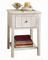Wooden One Drawer Retro Shabby Chic Small Bedside Tables