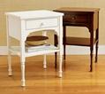 Wooden White One Drawer Slim Modern White Bedside Table