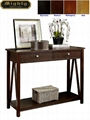 Wooden Accent Two Drawers Hall Entry Table Console