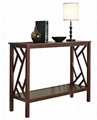 Wooden Designer Small Narrow Console Sofa Table