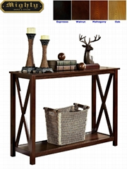 Wooden Classic Skinny Modern Console Hallway Table