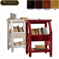 2 Tier Book Holder Magazine Rack Wood Sofa Side Table