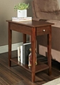 Wooden Walnut One Drawer Living Room Couch Small Side Table
