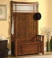 Wooden Oak Finish Tree Hall Entryway Storage Benches