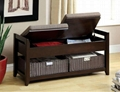 Entryway Flip Top Cushioned Foyer Bench Seat With Storage