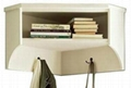 Entryway Coner Wall Shelf With Corner White Storage Bench
